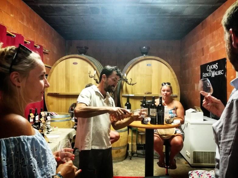 Dégustation de vin et partage
