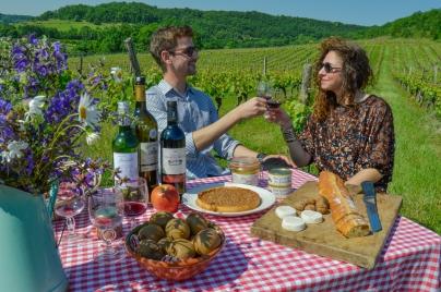 Repas dans les vignes Lot On Tours